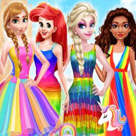 Princess Rainbow Style Fashion